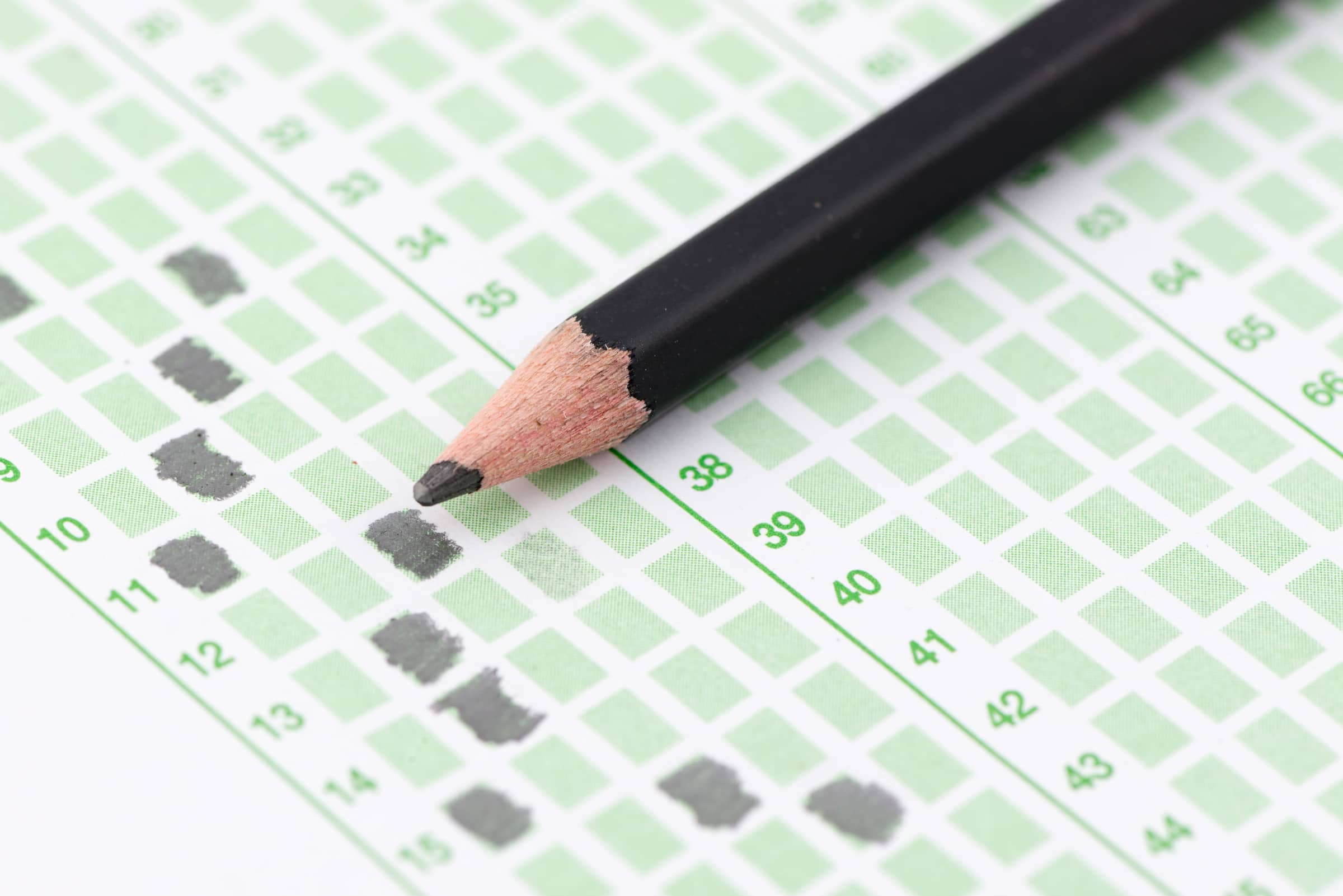 Pencil and answer sheet