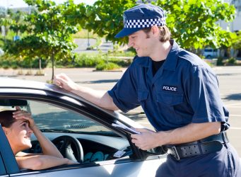 Policeman with driver